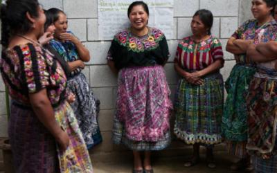 Maya vrouwen in Guatemala claimen hun rechten